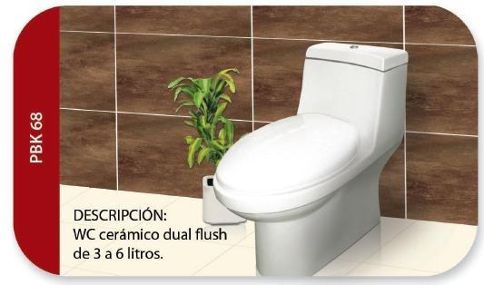 Wc One Piece Alargado Dual Flush Sanitario Ba O Inodoro