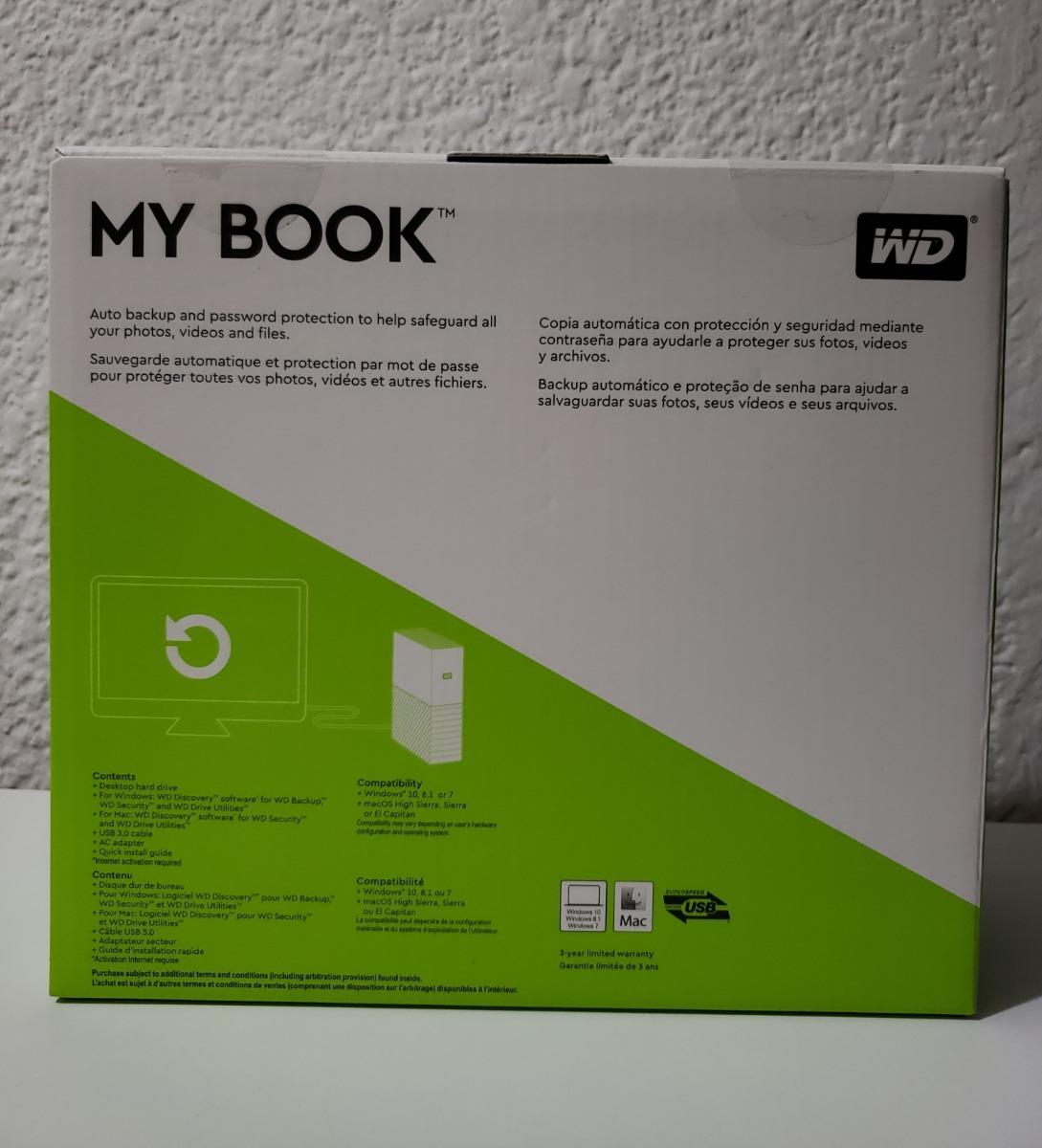 Wd 10tb My Book Desktop External Hard Drive, Usb 3 0