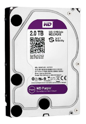 wd disco purple 2tb surveillance 64mb 5400rpm