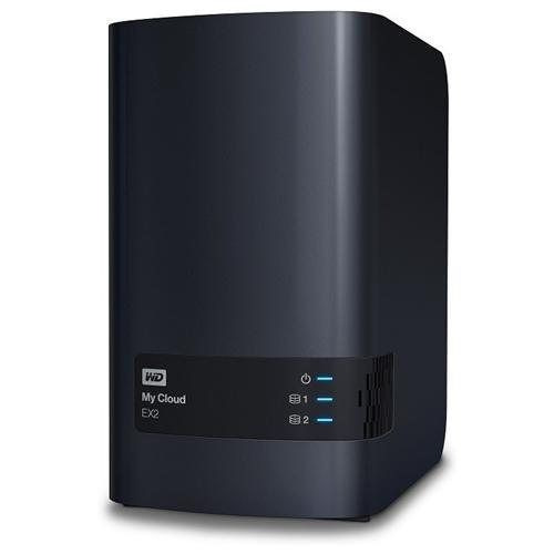 wd my cloud ex2 6tb (2x3tb) 2-bay nas nube cloud storage