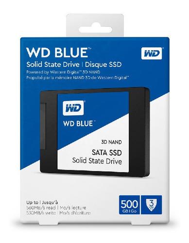 wd ssd blue 500gb 2.5 int sata 3d