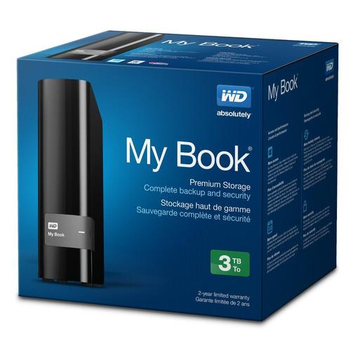 wd western digital disco duro externo my book 3tb usb 2/3.0