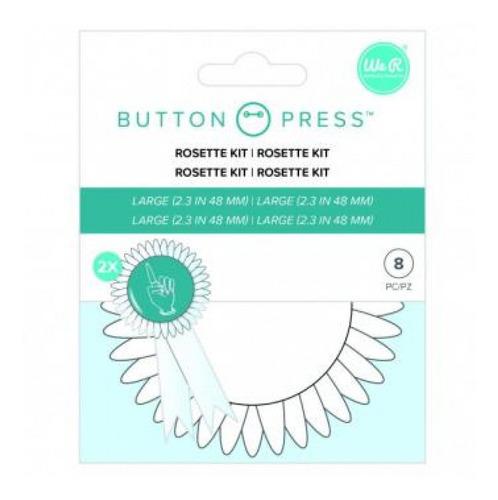 we r - kit de rosetas para máquina button press - 8 peças -