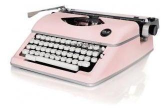 we r - máquina de escrever typewriter - cor rosa