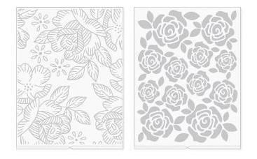 we r - placa de emboss para revolution florais - florals