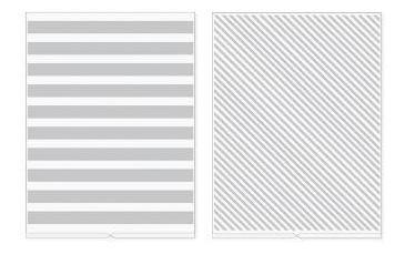 we r - placa de emboss para revolution listras - stripes