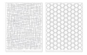 we r - placa de emboss para revolution tecido e honeycomb -