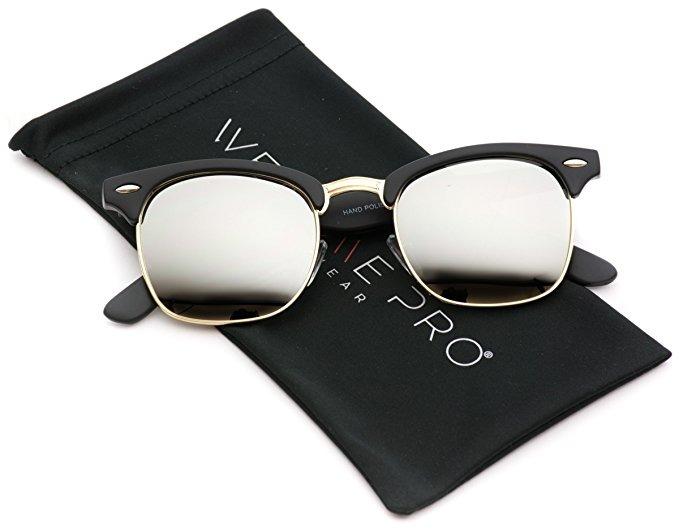 Wearme Pro - Media Marco Retro Semi-sin Montura Estilo Gafas ...