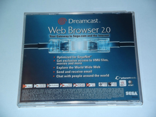 web browser 2.0   para dreamcast  solo en gamekiosko