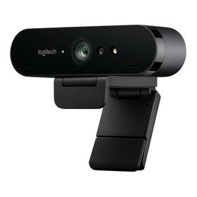 Web Cam Logitech Brio 4k Ultra Hd Nfe + Tripé V.conferencia