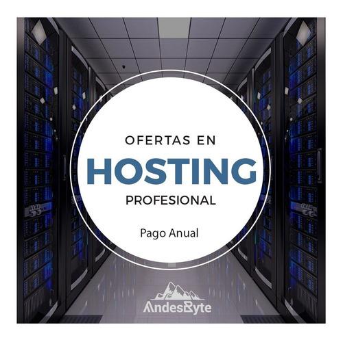 web hosting anual 8gb + dominio gratis, panel, cms