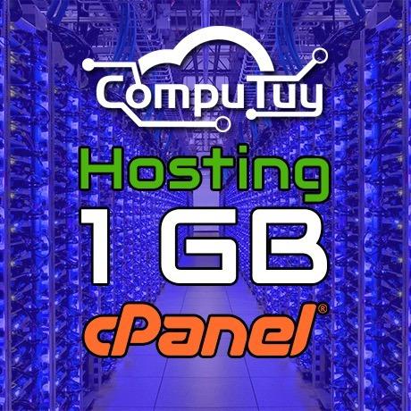web hosting y dominio (.ve), cpanel - 1gb de espacio x mes