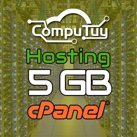 web hosting y dominio (.ve), cpanel - 5gb de espacio x mes