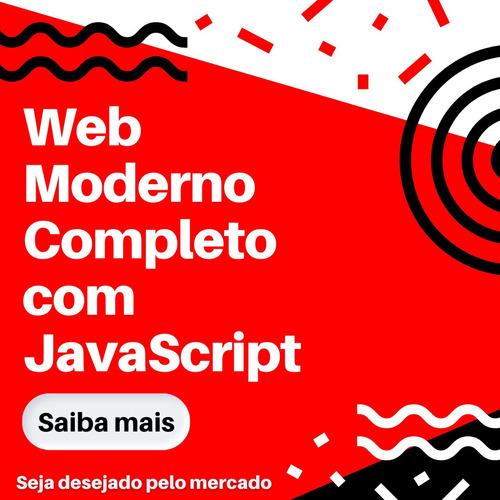 web moderno com javascript completo + projetos