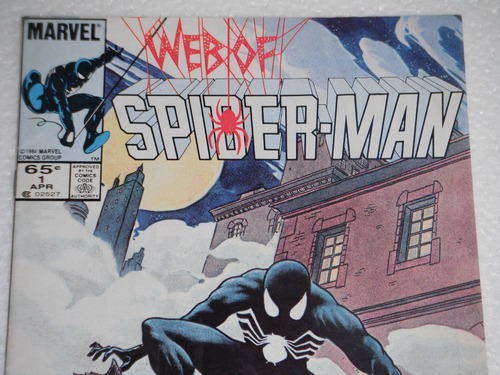web of spider-man #1 1º impresion 1985 -key issue- en ingles