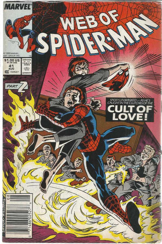web of spider-man 41 - marvel - bonellihq cx72 g19