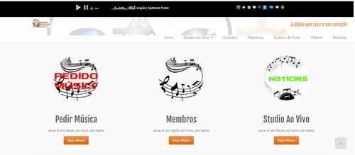 web rádio completa(site, streaming e hospedagem)