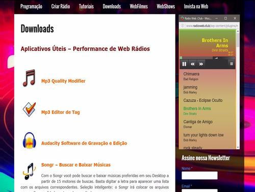 web rádio online responsivo não precisa streaming, veja demo