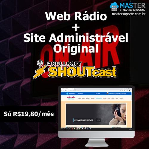 web rádio + site administrável bs original