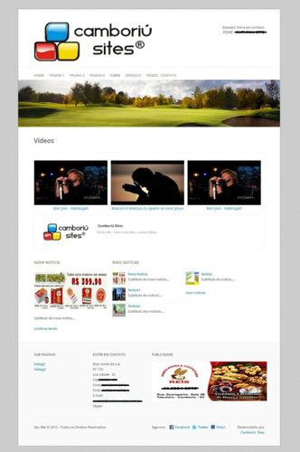 web site em php, html, mysql. para empresa ou pessoal