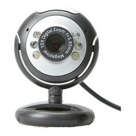 Webcam 12 Mp Com 6 Leds Para Visão Noturna Usb Pc/laptop