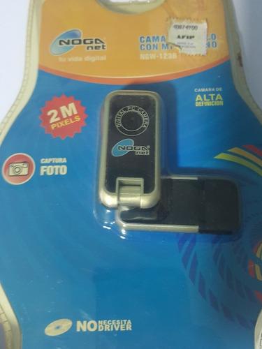 webcam 2.0 mp con microfono ideal notebook. noganet
