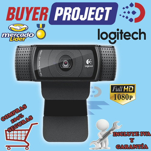 webcam camara web full hd logitech c920 con microfono incor