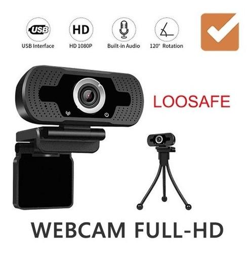 webcam cámara web loosafe ls-f35 full-hd micrófono tripode