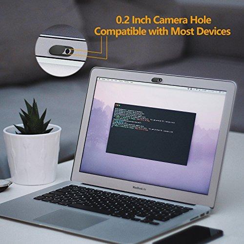 webcam cover, (paquete de 6) ultra delgado 0.03in irush web