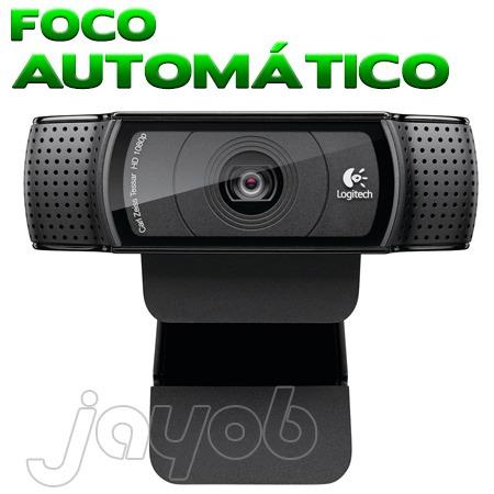 webcam logitech c920 hd pro full hd 1080p 15mp box lacrada!