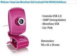 webcam microfone multilaser