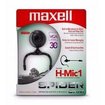 Camara Web Maxell Spider Vga 30fps 640x480 Micrófono Nuevas