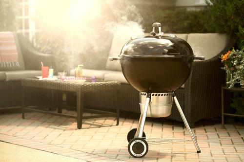 weber asador de carbón original kettle premium 22 pulgadas negro - 14401001