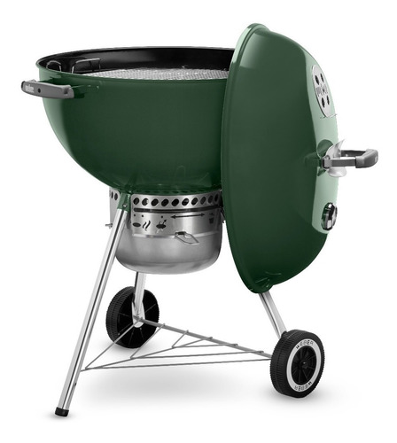 weber asador de carbón original kettle premium 22 pulgadas verde - 14407001