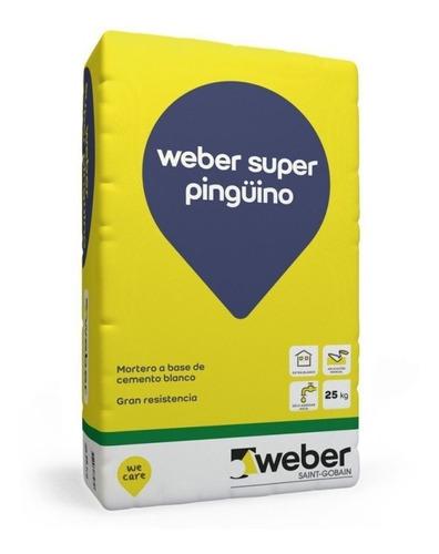 weber bolsa de cemento blanco pinguino 25 kg