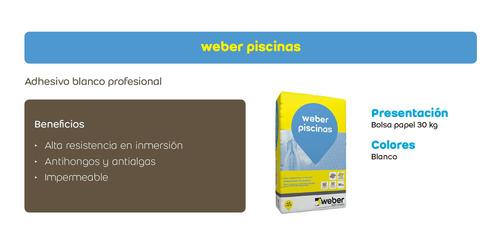 weber piscinas adhesivo blanco alta resistencia x 30kg