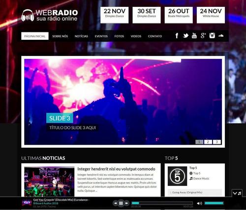 webradio - sistema php - portal php - website - site radio