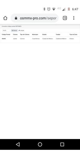 webservice consulta sepomex