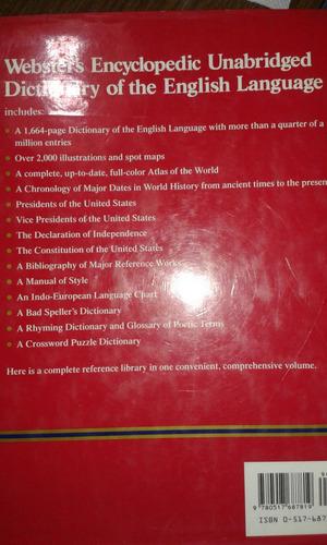 websters encyclopedic unabridged dictionary