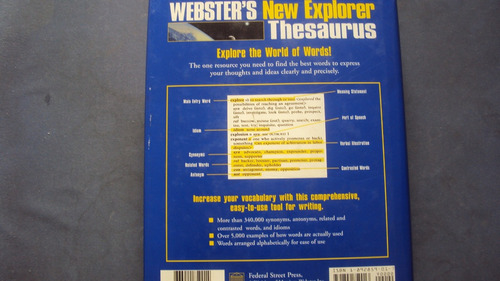 webster´s new explorer thesaurus  - federal street press
