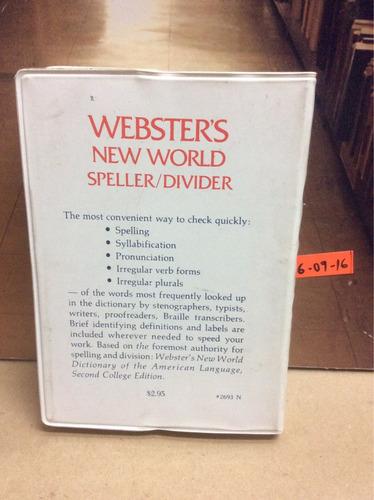 webster's new world. speller/ divider