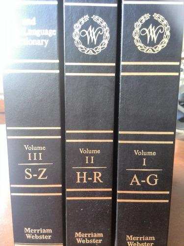 websters third new international dictionary tres volúmenes