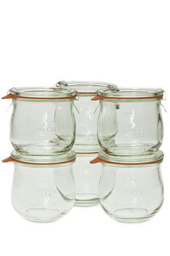 weck 746 1/5 litro tulip jar, 12.5 oz - set de 6