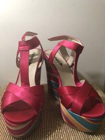 b653aa57d1 Zapato Terra Color Verde Para Dama Tacon Wedge - Zapatos en Mercado ...