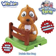 weebles down equilibrio patch el perro the dog  con base