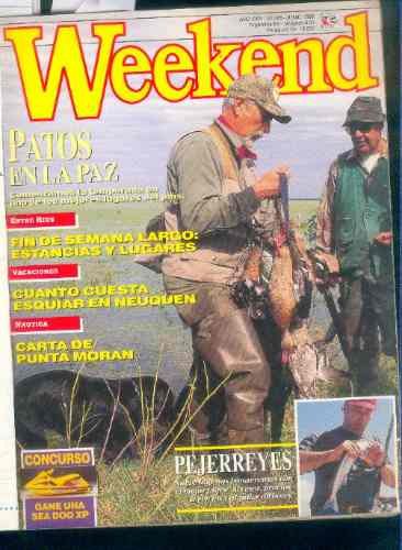weekend camping pesca caza armas buceo turismo n° 285 1996