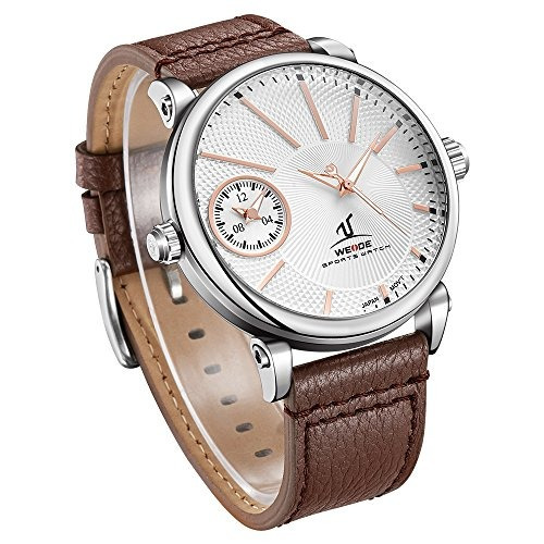 weide hombres uv1508 dual time zones reloj casual impermeab