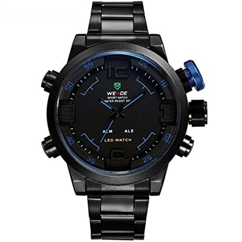 weide led analog digital reloj de pulsera hombres multifunc