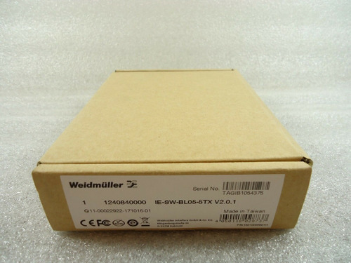 weidmuller ie-sw-bl05-5tx unmanaged switch fast ethernet 5 p