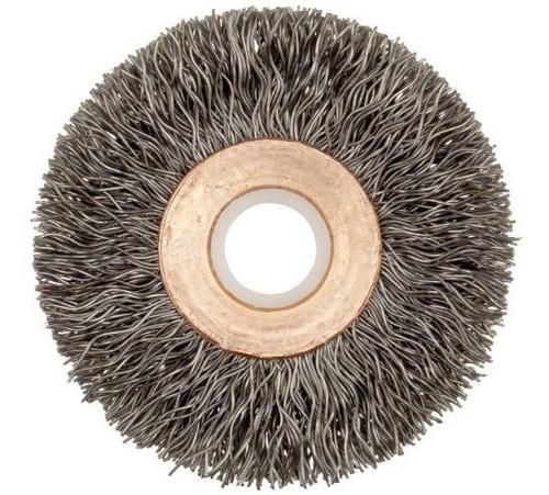 weiler centro de cobre cepillo para polvo de rueda de alambr